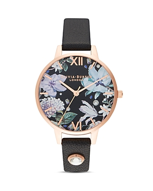 Olivia Burton Bejeweled Florals Watch, 34mm