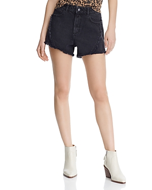 Dl Shorts DL1961 CLEO HIGH-RISE DENIM SHORTS IN FEATHER