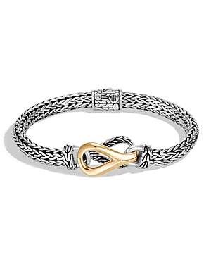 John Hardy Accessories STERLING SILVER & 18K YELLOW GOLD CLASSIC CHAIN LINK BRACELET