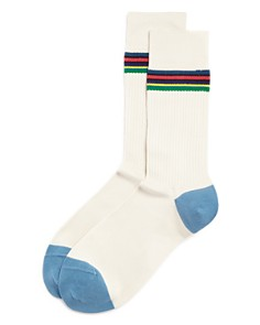 Paul Smith - Striped Rib-Knit Socks
