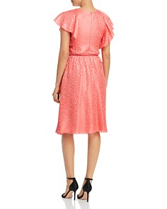 Emporio Armani - Ruffled Animal-Pattern Jacquard Dress