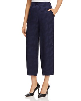 Armani - Cropped Wide-Leg Silk Pants