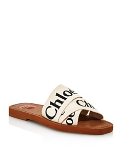 Chloé - Women's Woody Logo Slide Sandals