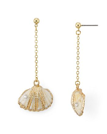 AQUA - Linear Shell Drop Earrings - 100% Exclusive