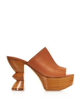dfc1d2aebd8 ... Salvatore Ferragamo - Women s Carved Heel Platform Mule Sandals