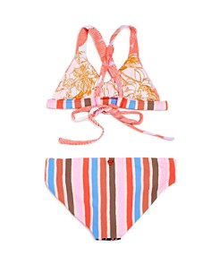 Maaji - Girls' Cumbuco Praia Reversible Two-Piece Swimsuit - Little Kid, Big Kid