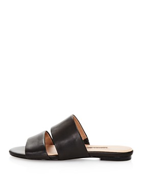 Charles David - Women's Siamese Leather Slide Sandals