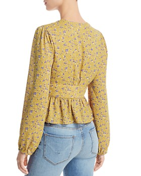 Lost and Wander - Sol Floral-Print Peplum Blouse