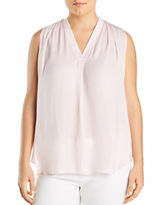 VINCE CAMUTO Plus - Shirred Sleeveless Top