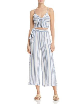 Lost + Wander Daiquiri Cropped Tie-Front Pants
