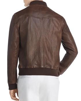 Dylan Gray - Leather Baseball Jacket