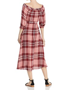 Whistles - Off-the-Shoulder Plaid Dress - 100% Exclusive
