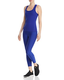 Alo Yoga - Alo Yoga Support Rib-Knit Tank & Tech Lift Airbrush Leggings