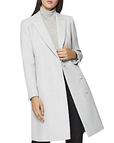 REISS - Santhia Double-Breasted Overcoat