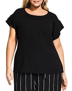 City Chic Plus - Tiered-Sleeve Top