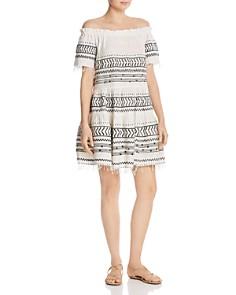 Lemlem - Maya Off-the-Shoulder Embroidered Dress