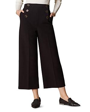 Karen Millen Pants CROPPED WIDE-LEG SAILOR PANTS