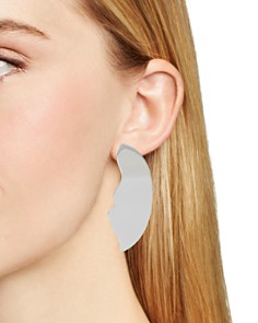 Robert Lee Morris Soho - Sculptural Half-Moon Earrings