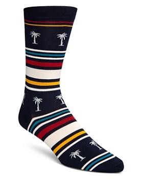 Cole Haan - Striped Palm Tree Socks