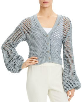 855abe490084b Theory - Crochet Cropped Cardigan ...