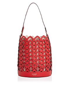 kate spade new york - Medium Perforated Leather Bucket Bag