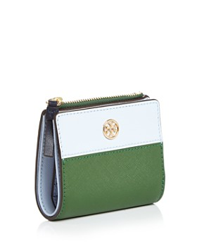 Tory Burch - Robinson Mini Color-Block Leather Wallet