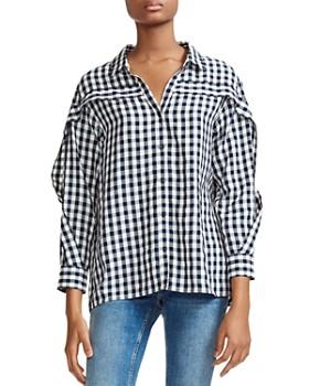 3d5389494 Maje - Capri Gingham Ruffle-Trim Shirt ...