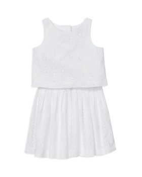 Ralph Lauren - Girls' Eyelet Top & Skirt Set - Little Kid
