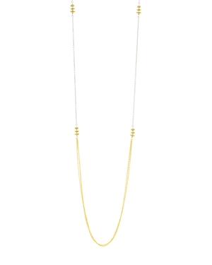 Freida Rothman Fleur Bloom Station Necklace in 14K Gold-Plated & Rhodium-Plated Sterling Silver, 36