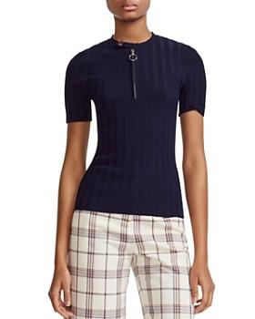 a5eb4c6393f Maje - Morino Short Sleeve Sweater ...