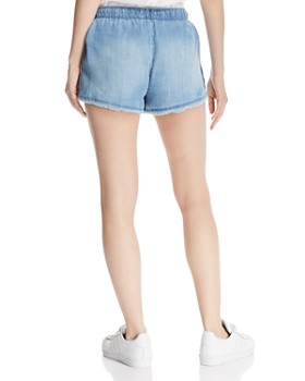 Bella Dahl - Side-Button Chambray Shorts