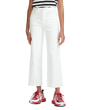 ed4ff6c49cc1 Maje - Pamier High Rise Cropped Jeans in White ...