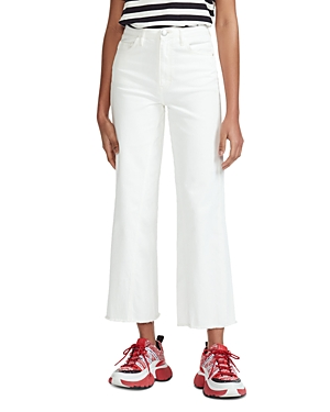Maje Jeans PAMIER HIGH RISE CROPPED JEANS IN WHITE