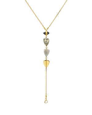 Chan Luu Champagne Diamond Slice Lariat Drop Pendant Necklace in 18K Gold-Plated Sterling Silver or Sterling Silver, 16