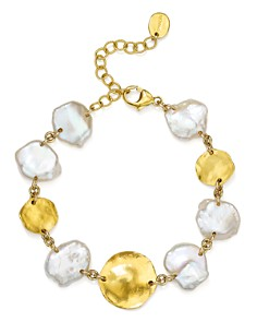Chan Luu - Cultured Freshwater Pearl Bracelet in 18K Gold-Plated Sterling Silver