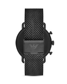 Emporio Armani - Aviator Black Mesh Bracelet Chronograph, 43mm
