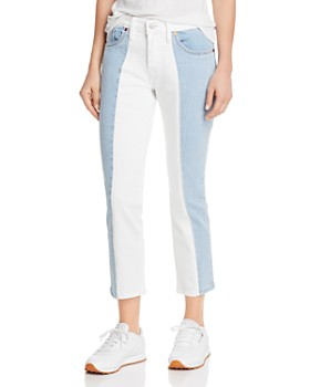 81b098a99eb Levi s - 501 Spliced Crop Tapered Jeans in Sliced and Diced ...