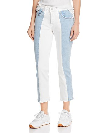 Levi's - 501 Spliced Crop Tapered Jeans in Sliced and Diced