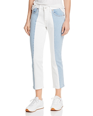 Levi's Jeans 501 SPLICED CROP TAPERED JEANS IN SLICED AND DICED
