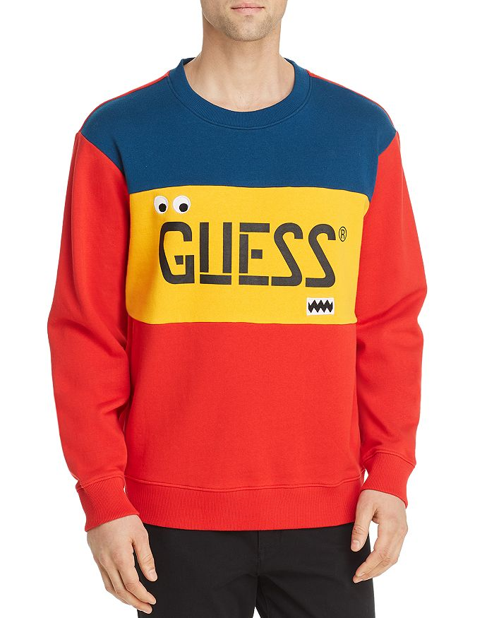 GUESS - Color-Block Logo Sweatshirt