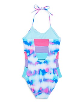 Peixoto - Girls' Zoe Tie-Dye Halter One-Piece Swimsuit - Little Kid, Big Kid