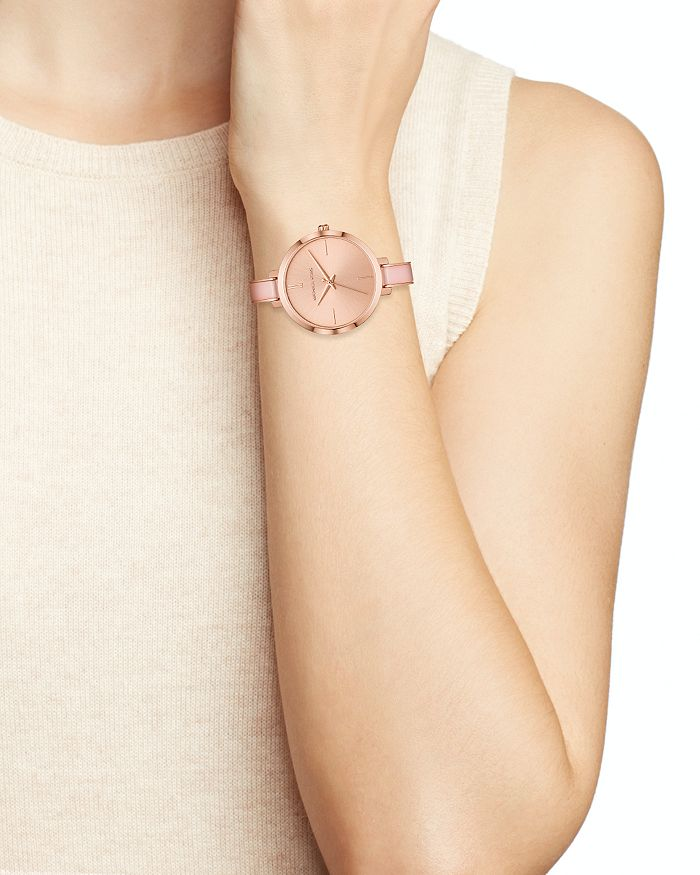 Michael Kors Jaryn Rose Gold Tone Bangle Bracelet Watch 36mm