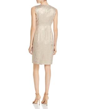 Calvin Klein - Snake Print Brocade Sheath Dress