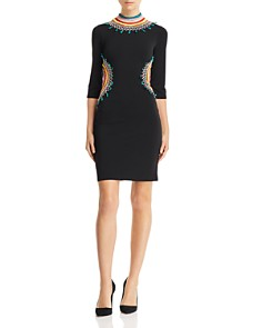 Alice and Olivia - Tamson Embroidered Cutout Dress