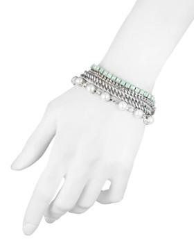 Carolee - Simulated Pearl, Stone & Chain Multi Strand Bracelet