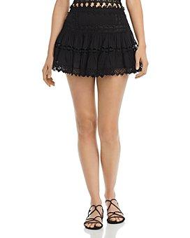 Charo Ruiz Ibiza - Greta Crochet Inset Mini Skirt
