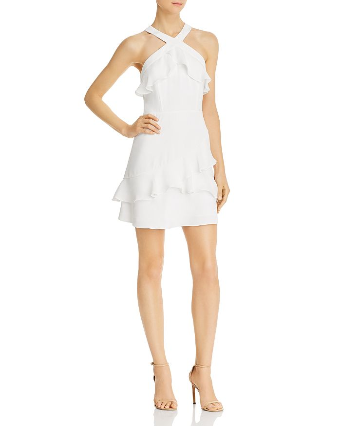 Parker RIKKI FLOUNCE OVERLAY DRESS