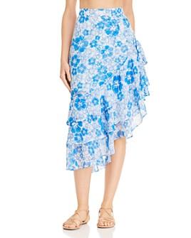All Things Mochi - Ebony Tiered Asymmetric Skirt