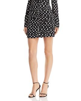 The East Order - Amy Ruched Polka Dot Mini Skirt