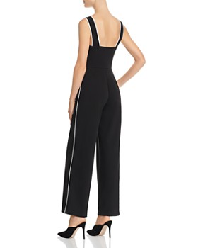 AQUA - Piped Wide-Leg Jumpsuit - 100% Exclusive